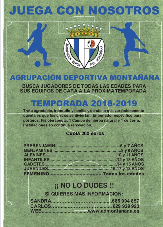 Club fútbol montañana