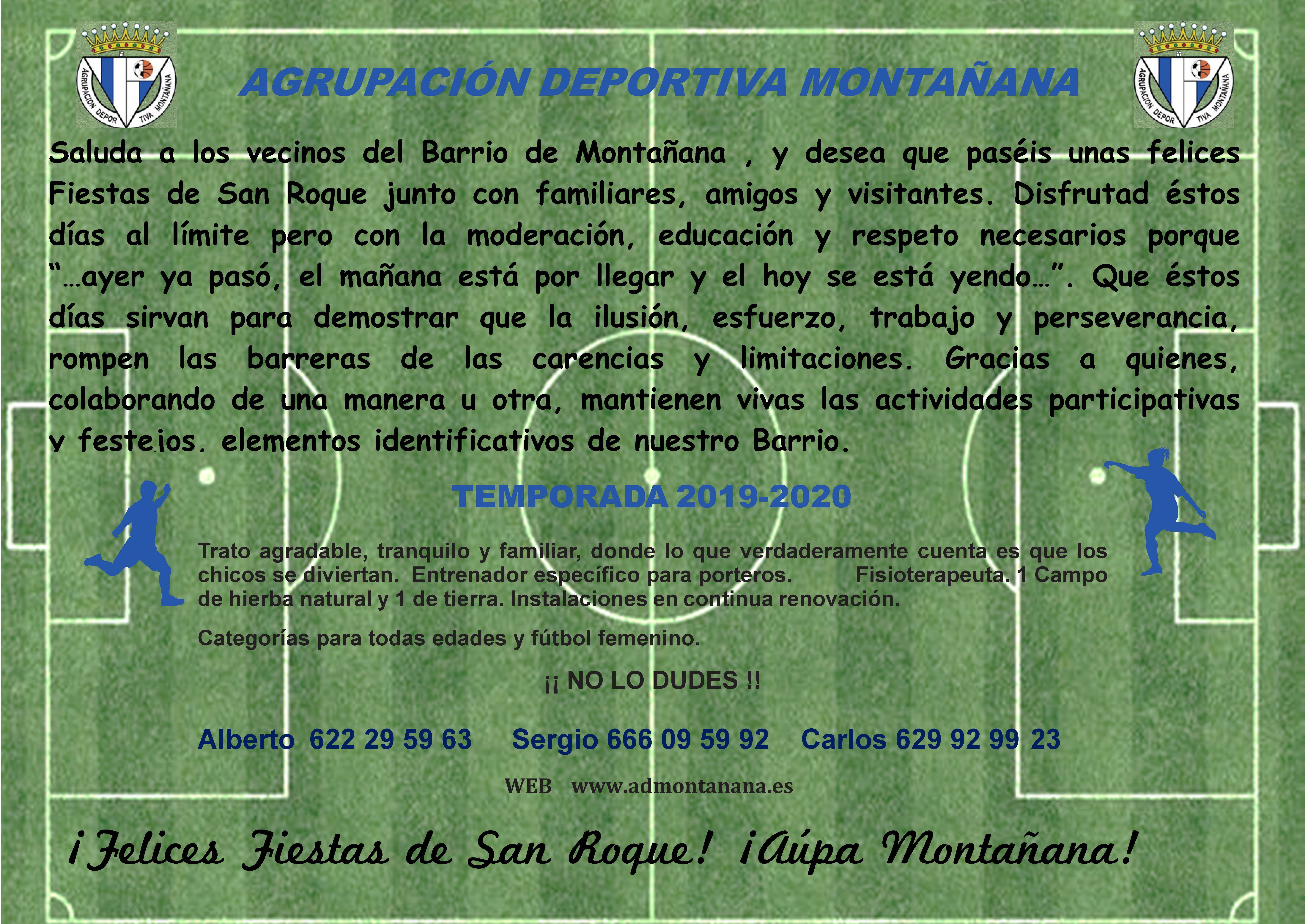 Equipo de fútbol Agrupación deportiva montañana